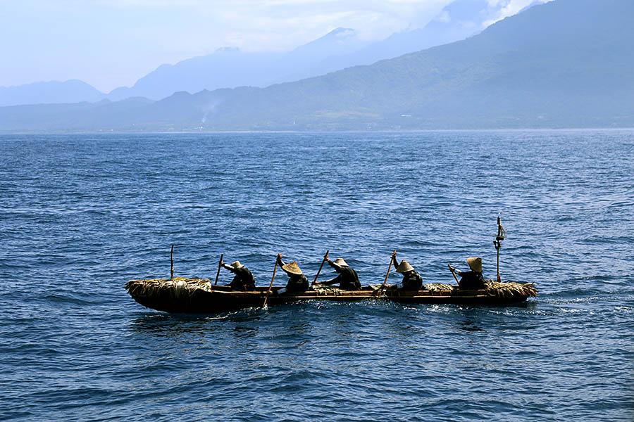 3万年前の航海・実験航海本番中